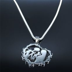 gothic couple necklace